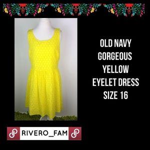 Old Navy ~ Yellow Eyelet Dress